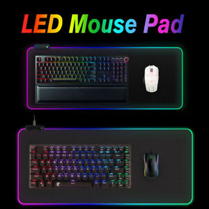Large-Extended-RGB-LED-Lighting-Gaming-Keyboard-Mouse-Pad-Mat-For-PC-Laptop