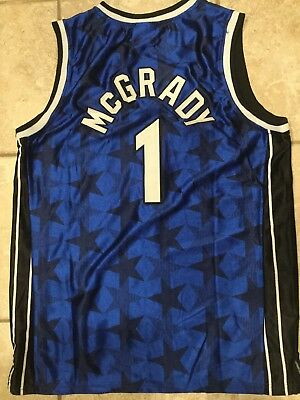 huge discount 17178 f6d3a Throwback Tracy McGrady TMAC Orlando Magic Blue Jersey L NWT   eBay
