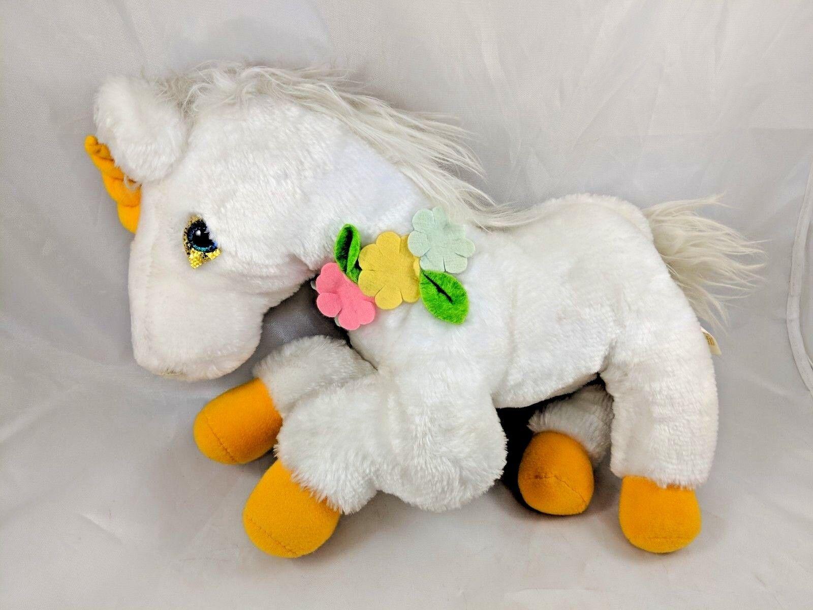 Commonwealth golden Unicorn Plush White Vintage Korea