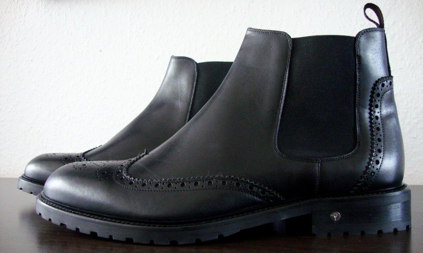 JOOP! GIORGIO Herren Chealse Stiefel Gr45 Stiefelette Schuhe Echtleder Schwarz Gr45 Stiefel NEU 1c0d64