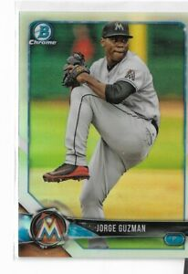 2018 Bowman Chrome draft refractor parallel BDC-66 Jorge Guzman