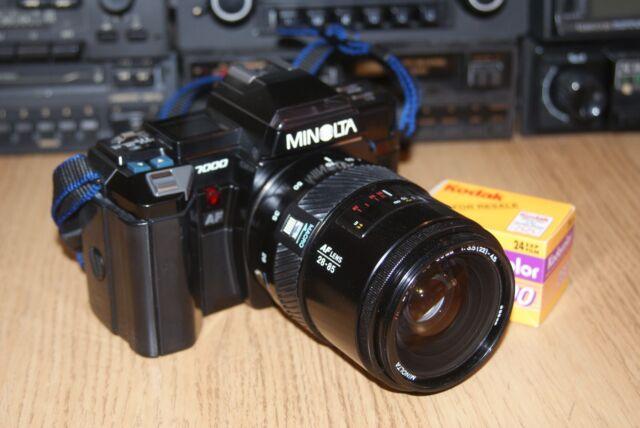 Konica Minolta 7000 35mm SLR Film Camera and Lens Bundle Warranty Refurbished