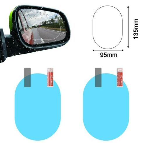 2Pcs Coche Espejo Retrovisor Membrana Impermeable Anti-reflejos Pegatinas de la película anti-niebla