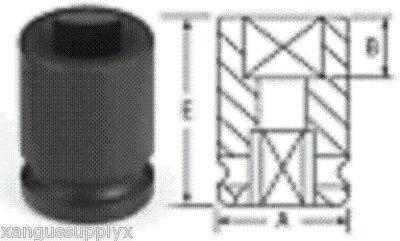"Grey Pneumatic 4 Point Impact Pipe Plug Socket  3/8"" Drive x 3/8"" Square Female"