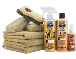Chemical Guys HOL303 Leather Cleaner and Conditioner Care Kit (16 Oz) (9 Items)