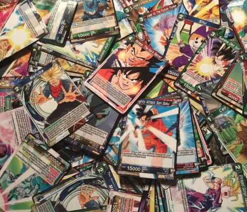 100 gemischte Karten DBS Dragon Ball Super Card Game Son Goku TCG BT ENGLISCH NM