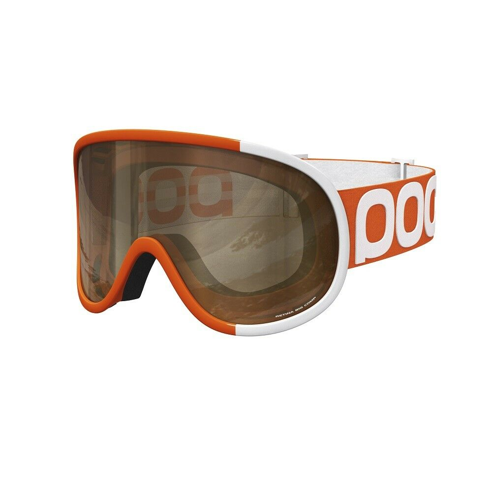 2016 POC Retina BIG Comp Zink orange Adult Goggles w  Brown Lens + Bonus Lens