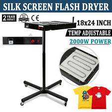 VEVOR 18x24 Inch Flash Dryer for Screen Printing Temperature Control Box Silk Screen Dryer 2000W Adjustable Stand T-Shirt Curing Machine