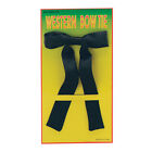 Cowboy Wild West Black Bow Tie Western Sheriff Fancy Dress Costume Accessory