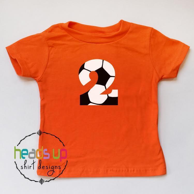 Soccer 2 Birthday Shirt Boy Girl Second Bday Toddler Sports tshirt Kids 2nd Tee