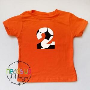 Image Is Loading Soccer 2 Birthday Shirt Boy Girl Second Bday