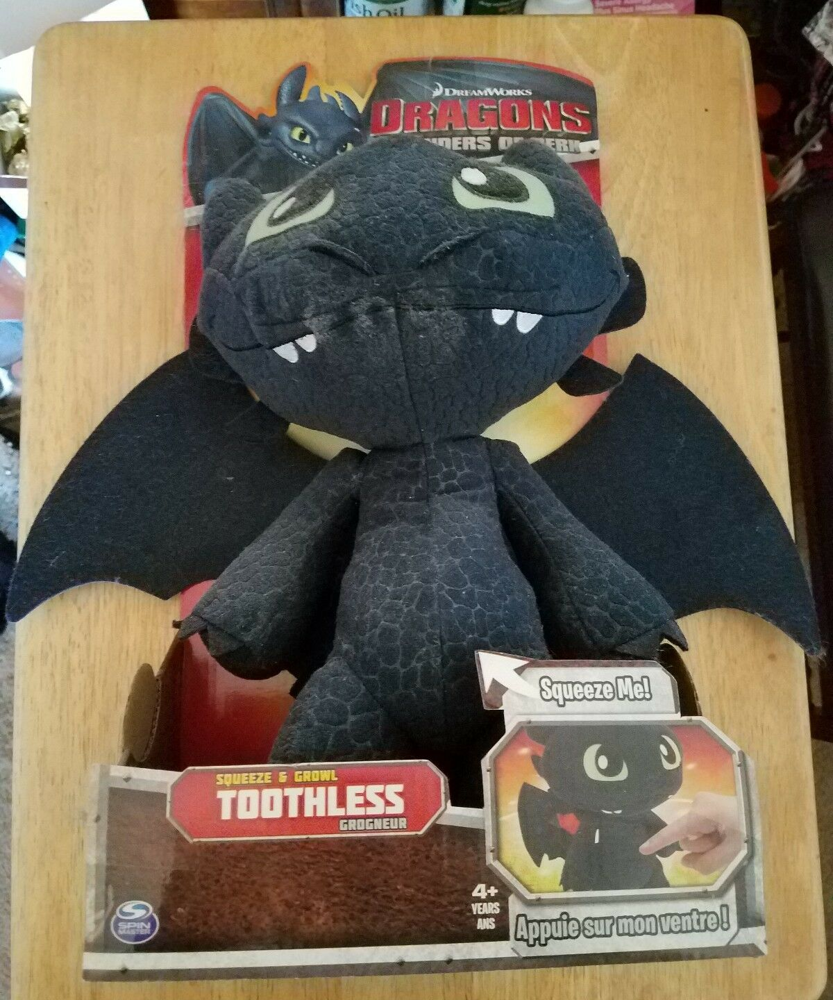 Toothless Squeeze & Growl Plush Spielzeug Dragons Defenders of Berk 13