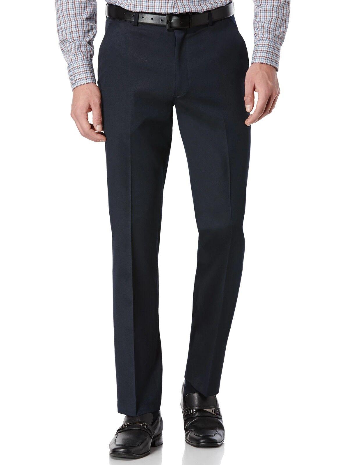 PERRY ELLIS PORTFOLIO men blueE SLIM FIT FRONT FLAT DRESS PANTS 30 W 30 L