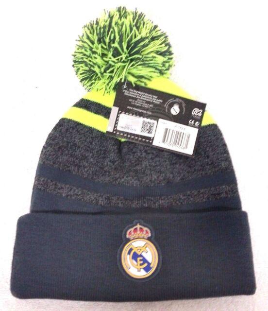 7c32a0487fe Real Madrid Soccer Football Pom Beanie Cap Knit Hat Gray White for ...