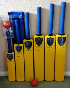 2,3 4 5//6 and Adults Junior Sizes 1 Slazenger Frontfoot Plastic Cricket Bat