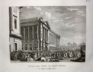 Paris-Place-de-la-Concorde-1789-Hotel-DE-LA-Marine-hotel-Garde-Meuble-rue-Royale