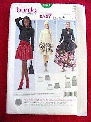 Uncut Burda Style sewing Pattern 6124 Trousers in cuffs size 8-18 FF