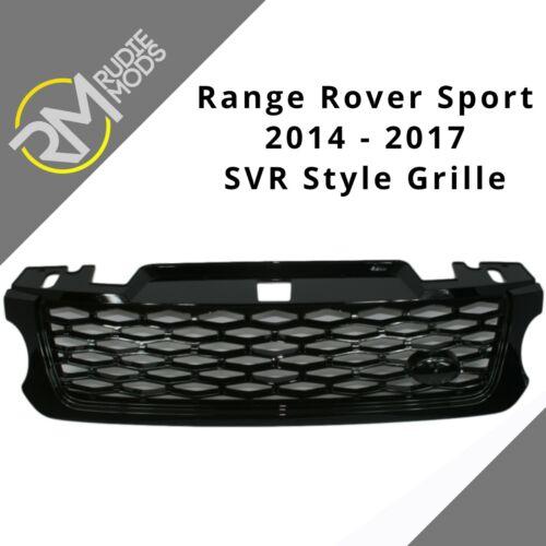 Range Rover Sport L494 2014 en Negro Brillante Diamante De Malla Rejilla Frontal Estilo Svr