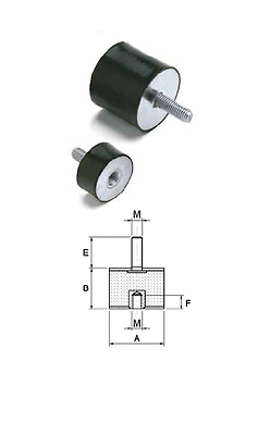 female-rubber dimension,pack dia 8mm-100mm Anti-vibration damper mounting