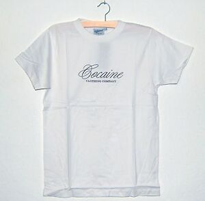 Jerkwear-Herren-Fun-T-Shirt-Gr-L-034-COCAINE-clothing-company-034-weiss-Funshirt