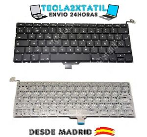 TECLADO-ESPANOL-APPLE-MACBOOK-PRO-A1278-MB467-13-3-034-NEGRO-CON-BOTON-ENCENDIDO-sp