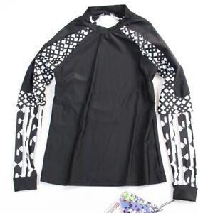4452cc1a50a42 Peter Pilotto for Target Black   White Print Long Sleeve Rash Guard ...