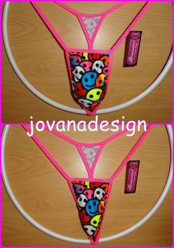 Multicolore volti Sorridenti XS S M L XL Jovanadesign più piccolo Micro String da Uomo