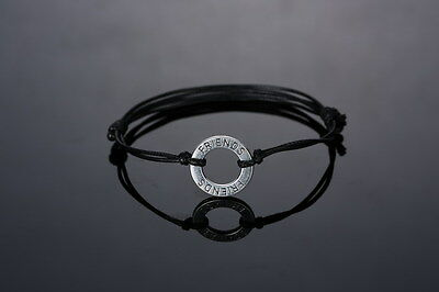 Family Mother's Day Friendship Leather Wishes Words Charm Bracelet Bangle Gift