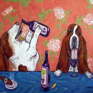 basset-hound-wine-picture-dog-art-tile-gift-coaster