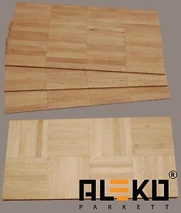 41 qm aleko mosaikparkett eiche natur parallel w rfel massivparkett parkett ebay. Black Bedroom Furniture Sets. Home Design Ideas