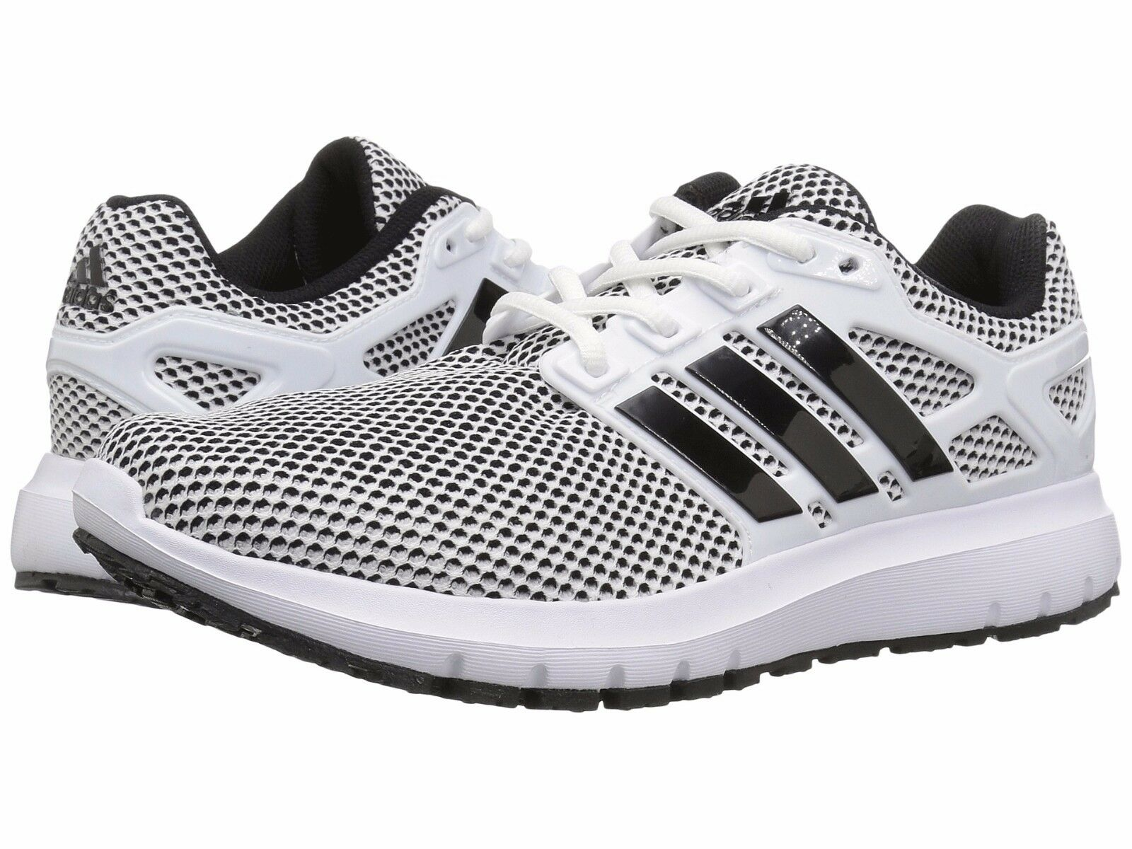 adidas ENERGY CLOUD Mens White/Black CG3007 Lace Up Running Shoes