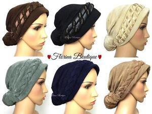 joli design Super remise gros remise Détails sur 💗 Mode Turban Chapeau Hijab, Joli Bonnet Cap Plain chimio  femmes musulmanes 💗- afficher le titre d'origine