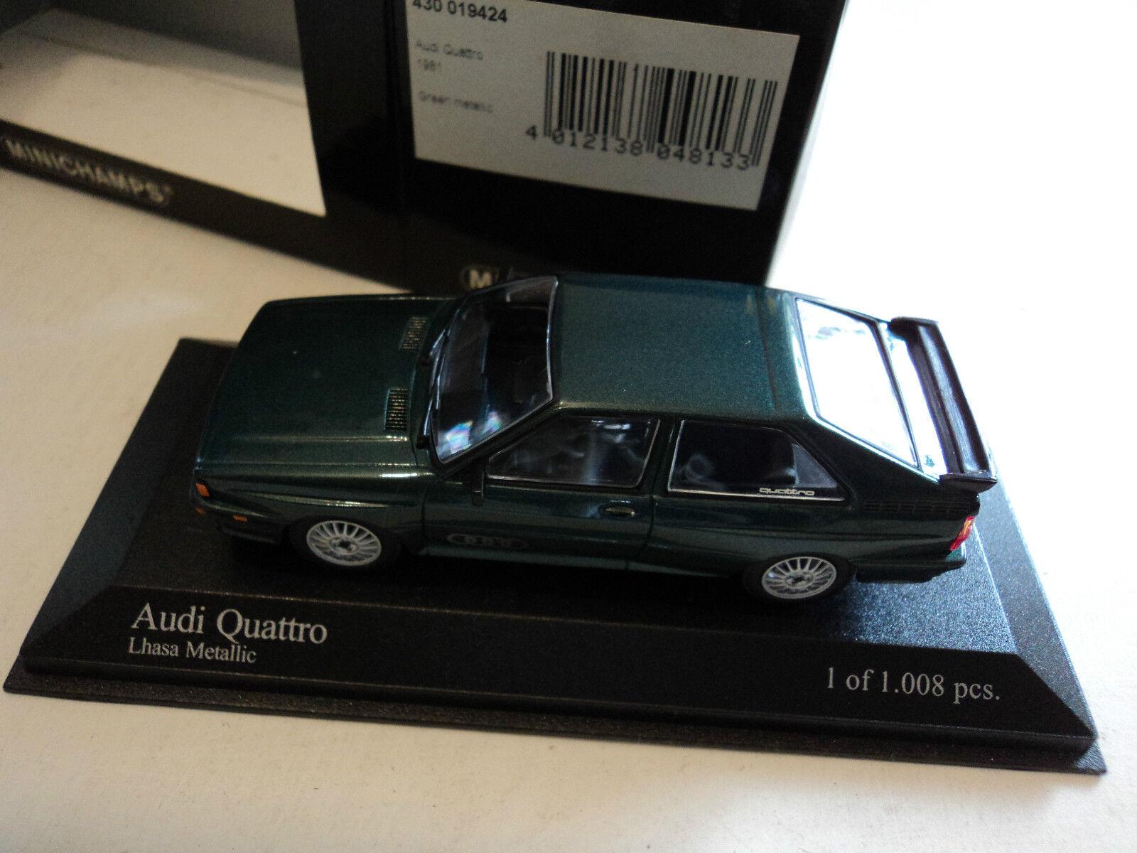 Minichamps 1 43 Audi Quattro 1981 verde metallic