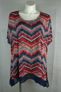 Cato-Women-039-s-Blouse-Size-26-28W-Short-Sleeve-Scoop-Neck-44