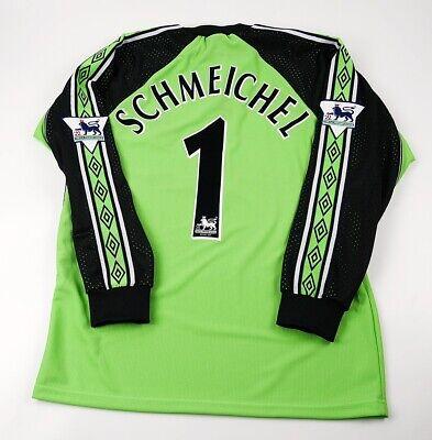 SCHMEICHEL S M L XL 2XL 3XL MANCHESTER UNITED 1999 UCL FINAL GOALKEEPER SHIRT