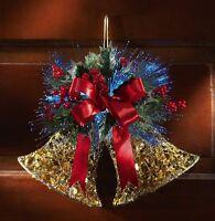 Fiber Optic Color Changing Jingle Bells Christmas Holiday Wall Door Decor