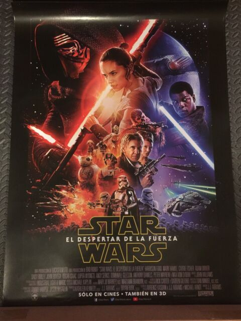 STAR WARS THE FORCE AWAKENS Original DS FINAL Movie Poster 27.5X40 SPANISH LATIN