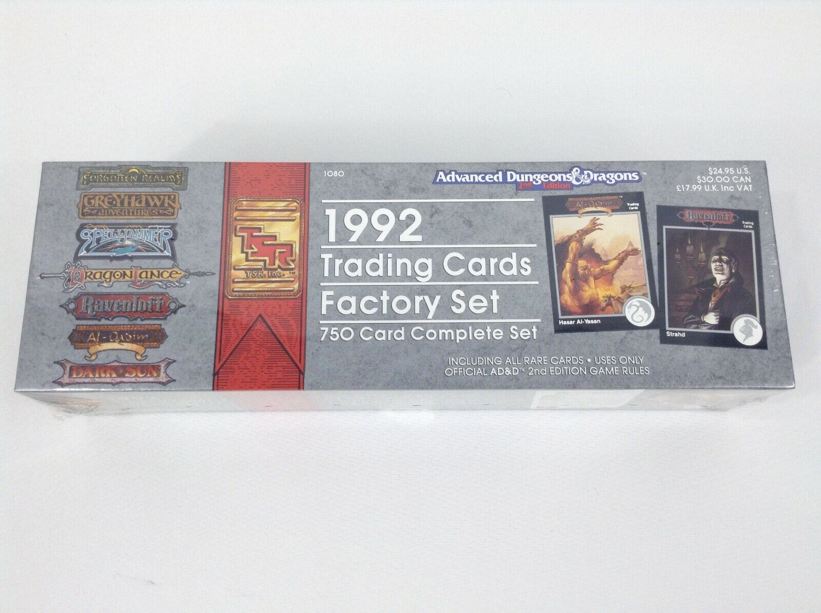 Advanced D&D TSR 1992 Trading Cards Factory Sealed