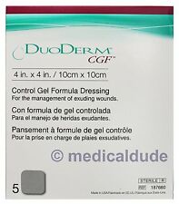 "ConvaTec DuoDerm CGF 4""x4"" Control Gel Formula Dressing #187660 - 1 Box of 5"