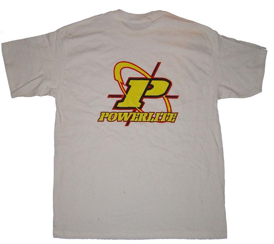 Powerlite Cross Hair Logo BMX T-Shirt XL Weiß Vintage Old School