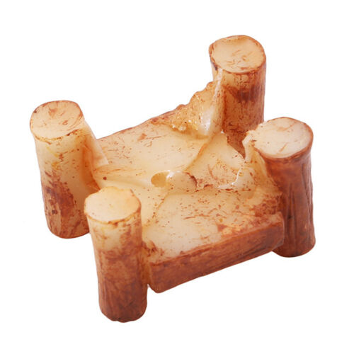 Micro Wooden Bridge Figurine Collection Miniature Landscape Garden Crafts LP