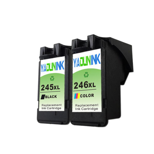 Combo Pack PG-245XL CL-246XL Ink Cartridge Replacement for PIXMA Printers
