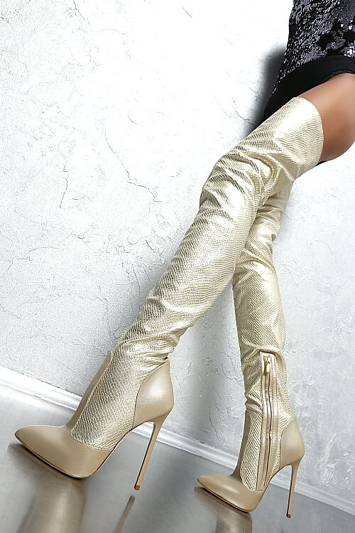 100% HAND MADE IN ITALY LUXUS HOHE HIGH SEXY HEELS HEELS HEELS D44 Stiefel STIEFEL LEDER 38 6a8b83
