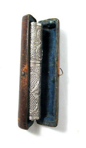 SEWING-Filigree-NEEDLE-CASE-amp-ORIGINAL-box-c1790-039-s-800-silver-Antique