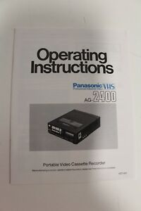 Panasonic AG-2400 VHS Professional Industrial Video Cassette Recorder Manual