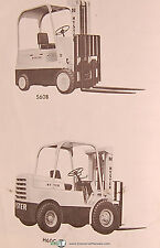Hyster S60b Amp H60c Forklift Owners Manual Year 1968