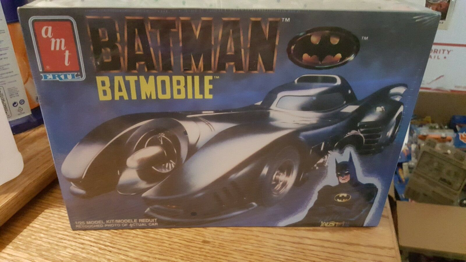 1989 Vintage Sealed AMT ERTL Batman Batmobile MODEL KIT  25 scale NISB