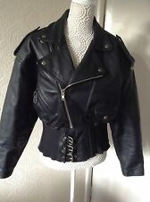 Retro vintage cafe racer 59 club authentic leather jacket size 12 Hein Gericke