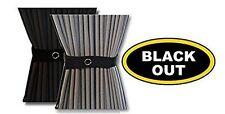 140cm x 52cm Generic DIY curtains for campervans, motorhomes (Black - Out)