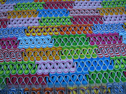 Benartex Kanvas Sweet Tooth Candy Store Ribbon Candy 1 Yard Quilt Cotton Fabric